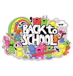 Back to school doodle vector