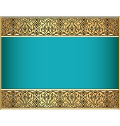 background with a strip with Celtic pattern vector image vector image