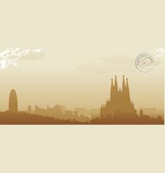 barcelona vector image vector image