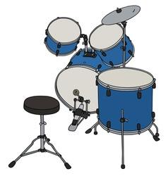 Blue percussion set vector image