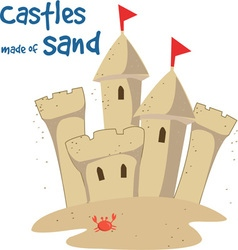 Castles made of sand vector
