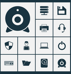 Computer icons set collection of diskette vector
