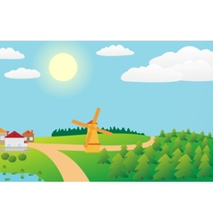 Countryside landscape vector image