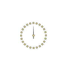 Dial clock computer symbol vector