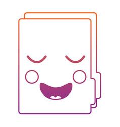 Happy file folder kawaii icon image vector