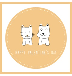 Happy valentine s day card6 vector image