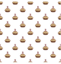 hot cooked pie pattern vector image