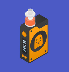 isometric icon of vape device with ghost vector image vector image