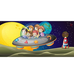 Kids in the outerspace vector image