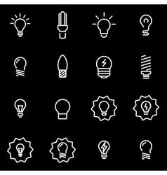line bulbs icon set vector image vector image