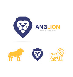 Lion logo or symbol design template vector