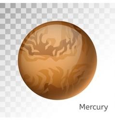 Mercury planet 3d vector image vector image