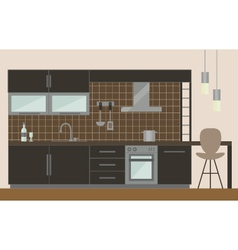 Modern kitchen vector image