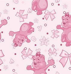 Pattern for Newborn Girl vector image vector image