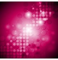 Shiny crimson tech background with circles vector
