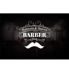 Vintage barber shop logo vector
