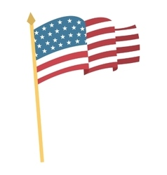 Flag united states of america vector