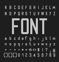 Tall font and number design alphabe vector