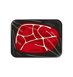 pork steak vector image