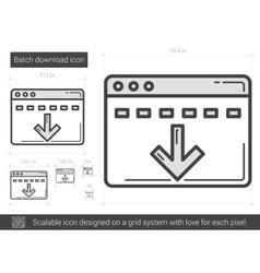 Batch download line icon vector
