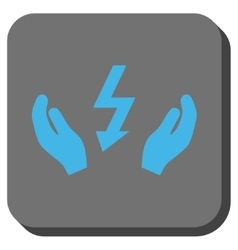Electrical power maintenance hands rounded square vector