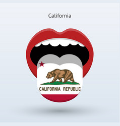 Electoral vote of california abstract mouth vector