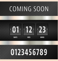 Coming soon countdown timer vector