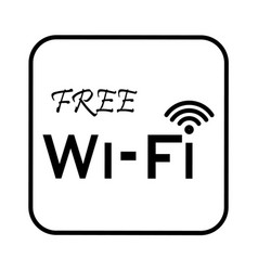 Thin line free wifi icon vector