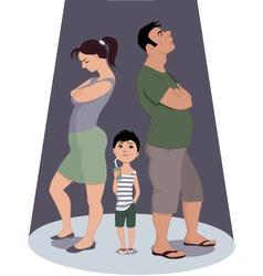Divorce hurts children vector