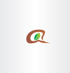 Branch and leaf letter a logo vector