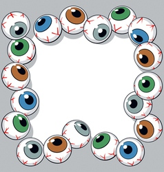 Eyeballs frame vector