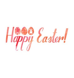 Happy easter watercolor inscription vector