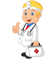 A doctor happy vector