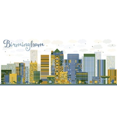 Abstract birmingham alabama skyline vector