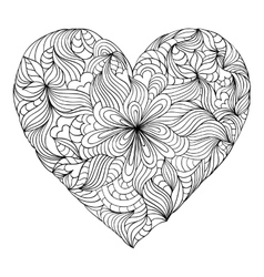abstract heart on white background vector image vector image
