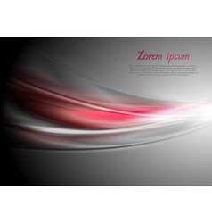Abstract vibrant waves vector image vector image