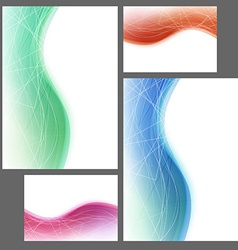 Brochure abstract template swoosh wave lines vector
