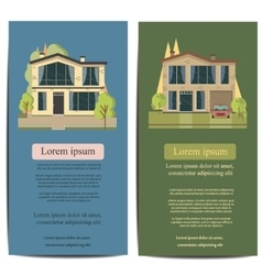 Brochure template design Concept of architecture vector image