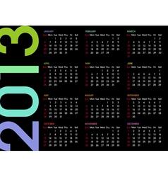 calendar 2013 4 vector image