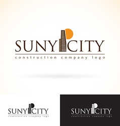 Construction development building company logo vector image