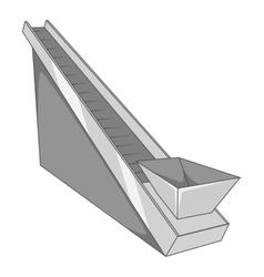 Conveyor machine icon gray monochrome style vector image vector image