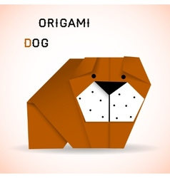 Dog origami vector image vector image