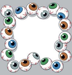 eyeballs frame vector image vector image