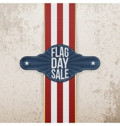 Flag Day Sale patriotic Tag with Ribbon and Shadow vector image vector image