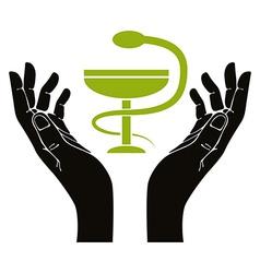 Health in hands vector
