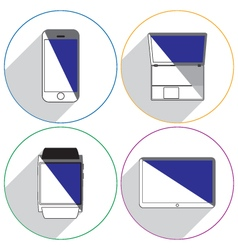Modern devices icons vector image vector image