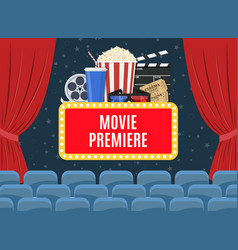 movie premiere poster vector image vector image