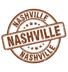 Nashville brown grunge round vintage rubber stamp vector