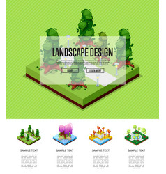 natural landscape design isometric infographics vector image