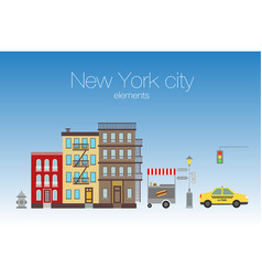 New york city elements vector